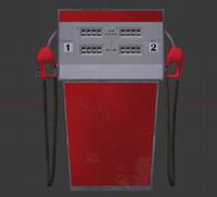 3d model gas pump