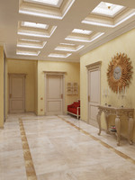 classical interior hallway 3d model