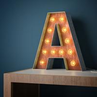 Metal light letter