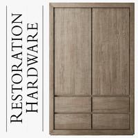 reclaimed oak armoire 3d max