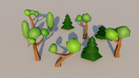 Low-Poly Trees
