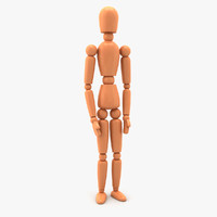 3d max rigged mannequin wood