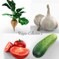 3d vegetables beet tomatoes model
