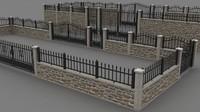 3d walls set model