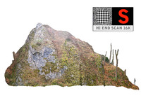 3d mountain cliff hd model