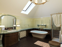 classical washroom 3d model
