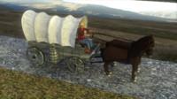 cowboy scene 3d model