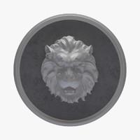 Panel Figure Lion