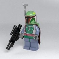 fett lego 3d obj