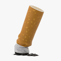 snuffed cigarette 3d model