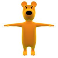 3d model dog character