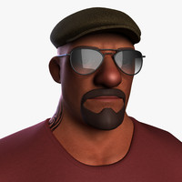 3d model cartoon man toon