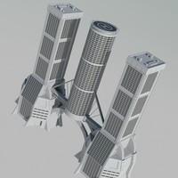 building futuristic 3d model