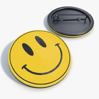badge smiley face 3d model