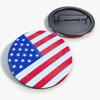 3d model badge united states