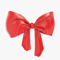 3d red bow model
