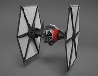 3d model of new order tie-fighter star