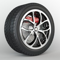 wheel discs tire brakes obj