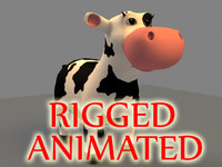 cartoon cow 3d model