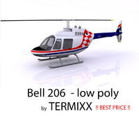 3ds max helicopter bell 206