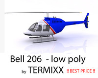 3d model helicopter bell 206