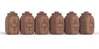 3d model of clay jars