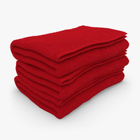 towel fold red 3d model