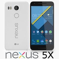 lg nexus 5x 3d model