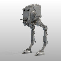 at-st walker star wars 3d model
