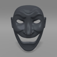 3d samurai mask model