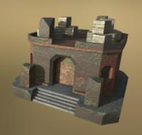 LowPoly Fantasy stone house