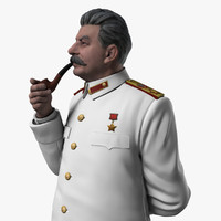 3d model color stalin figurine