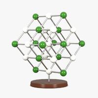 3ds molecular sodium chloride