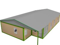 modular residential building containers 3d model