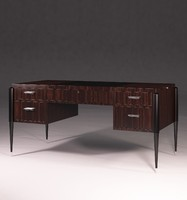 3d model desk art deco style furniture