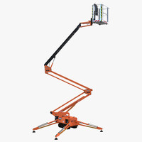 3d model telescopic boom lift orange