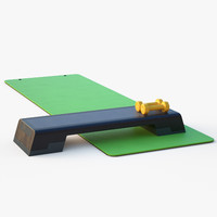 3d model of fitness equipment step