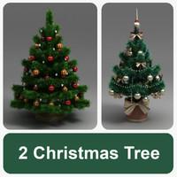 2 christmas tree 3d max