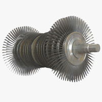 steam turbine 3d 3ds