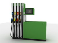 3d fuel dispenser model