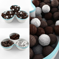 bowl chocolate 3d max