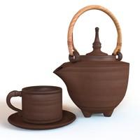 3dsmax clay teapot