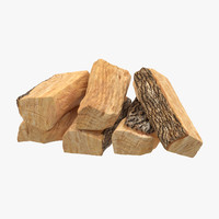 3d firewood small stack 01 model