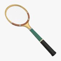 tennis racket 02 3d model