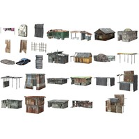 Shanty Town Buildings and Accessories 1