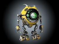 3d sci-fi robot model
