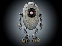 sci-fi robot 3d model