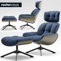 chair armchair roche 3d model