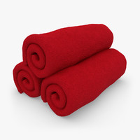 3d towel roll red