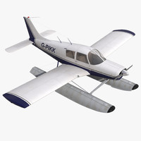 3d model of light aircraft piper pa